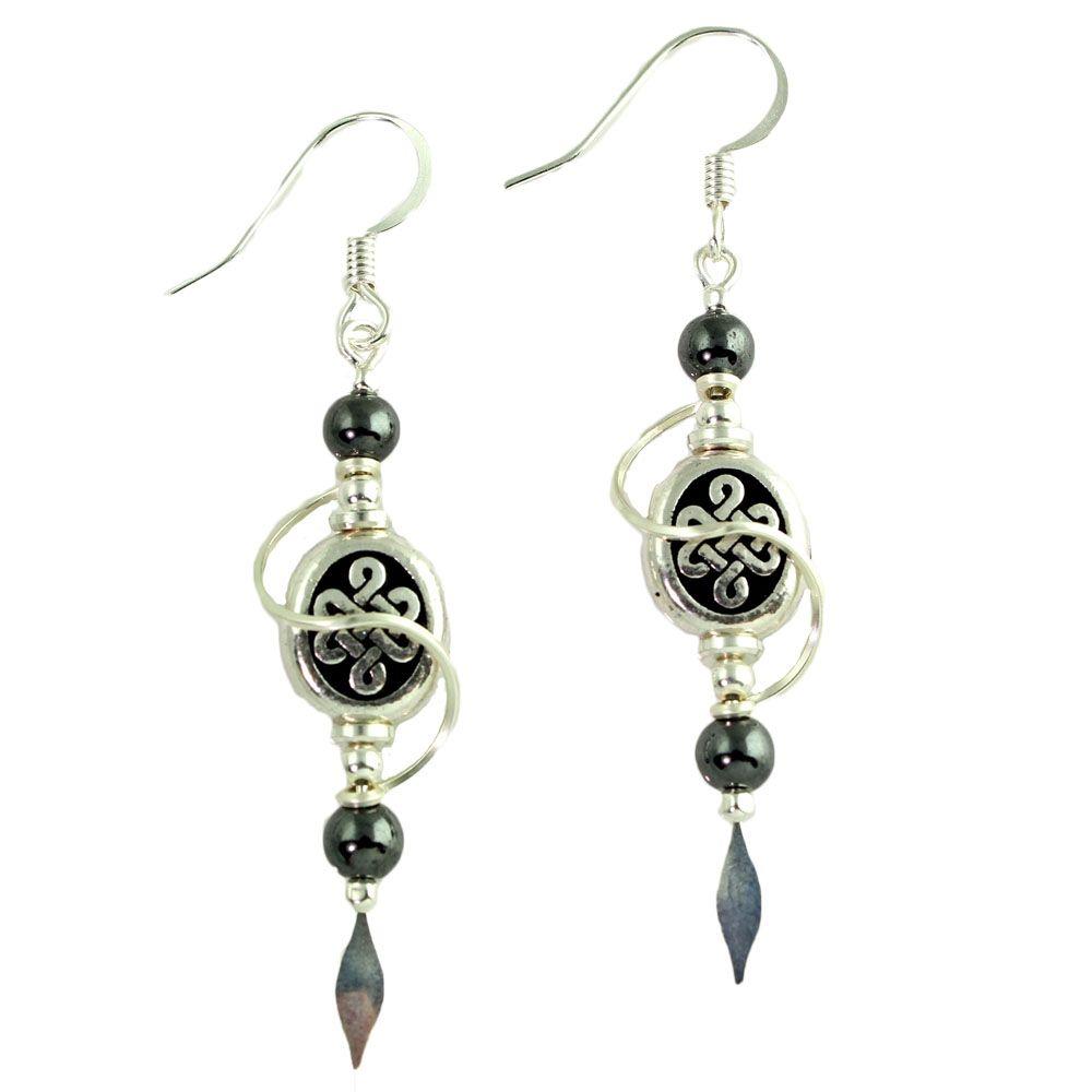 Harpstone Celtic Spiral Earrings