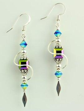 Harpstone Irridescent Swirl Earrings