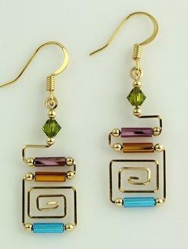 Harpstone Egyptian Wire Earrings