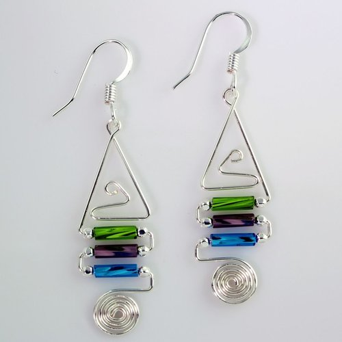 Harpstone Cartouche Wire Earrings