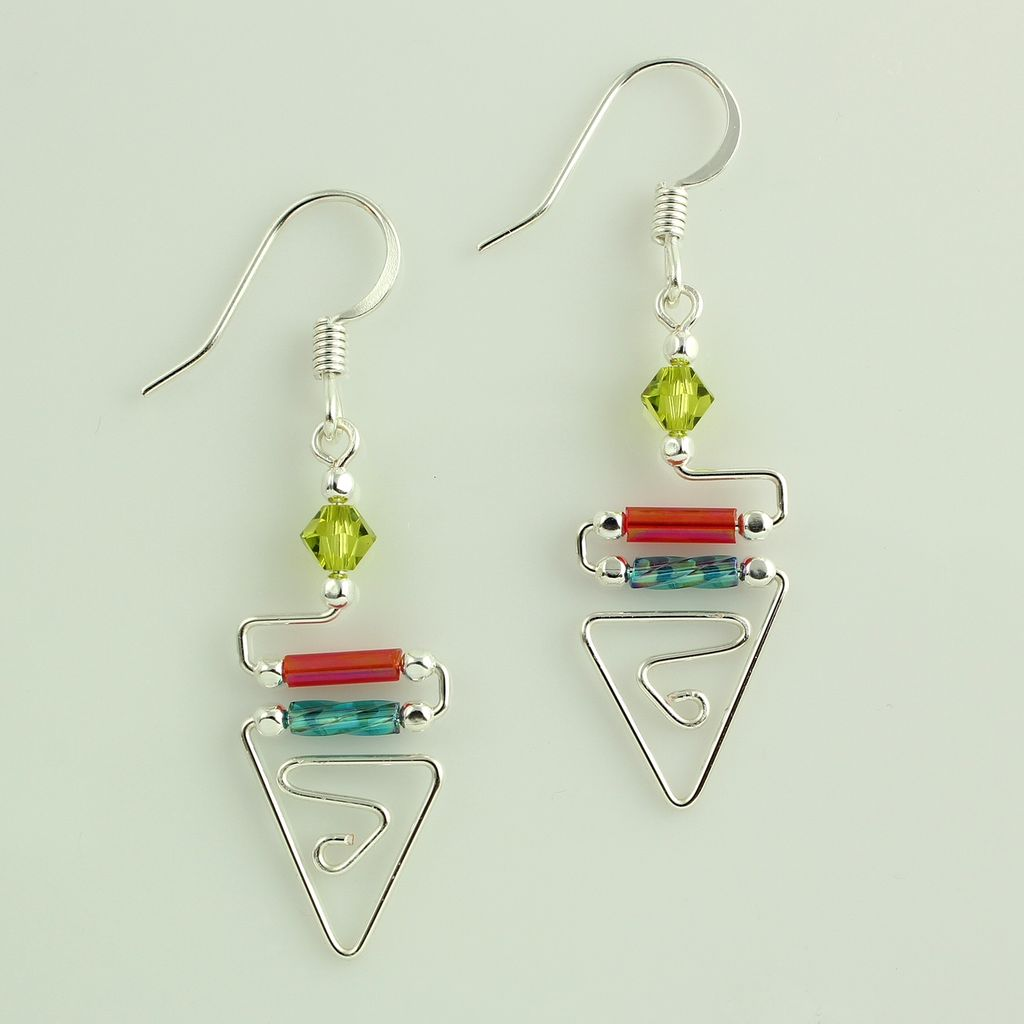Harpstone Egyptian Triangle Earrings