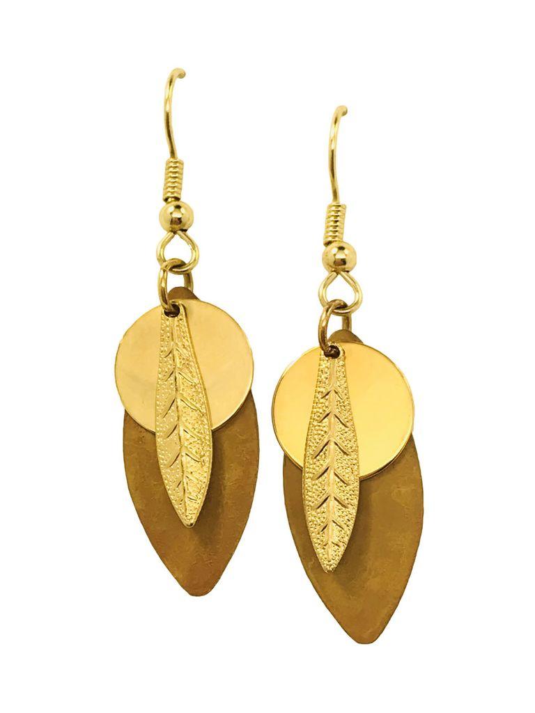 Harpstone Acorn Layered Earrings