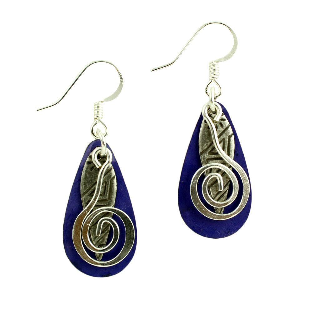 Harpstone Soft Purple Layered Earrings