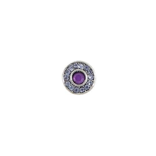 Baked Beads Crystal Post Earrings