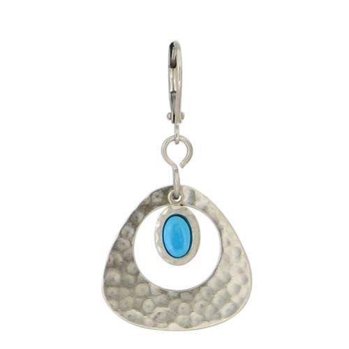 Baked Beads Triangular Hoop Dangle Earrings