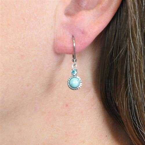 Baked Beads Moonstone and Crystal Earrings