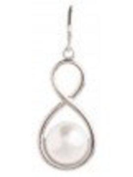 Rain Infinity Pearl Earrings