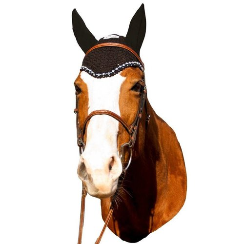 Equine Couture Fly Bonnet w/Crystals