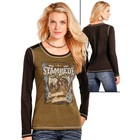 Panhandle Slim Ladies Cowgirl Frontier LS Top L8T3631