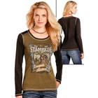 Panhandle Slim Ladies Cowgirl Frontier LS Top L8T3631