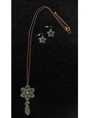 Flower Patina XL Chain Jewelry Set