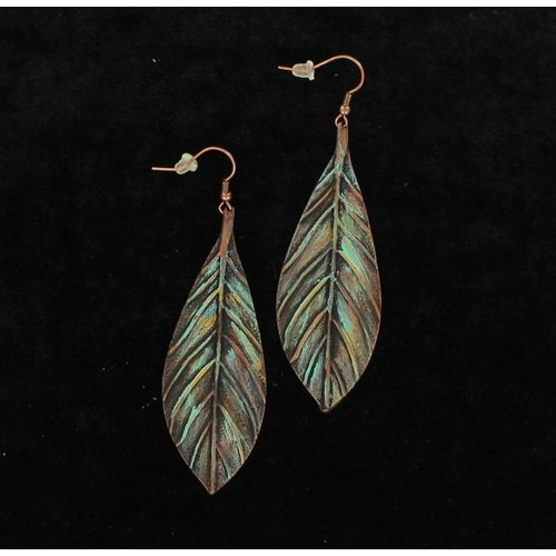 Feather Patina Earring