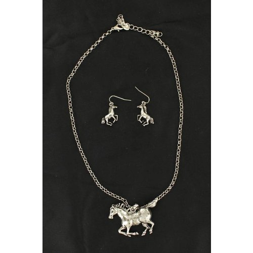 Running Horse Jewelry Set