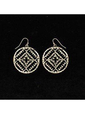 Hammered SV Aztec Earring