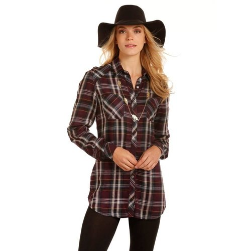 Panhandle Slim Rock & Roll Cowgirl Soft Purple Plaid