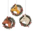 Horsehead in Wreath Ornament