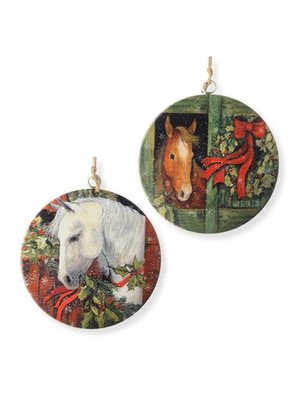 Large Tin Christmas Horse Ornament