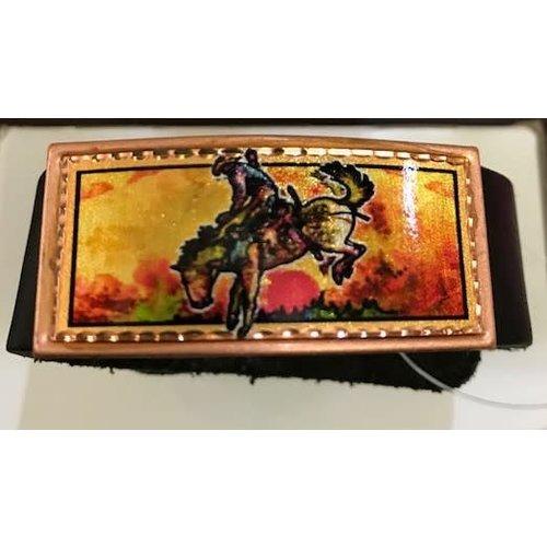 Lynn Bean Leather Bracelet
