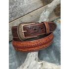 3D Belt Company Men's Belt Brown Filagree 5635
