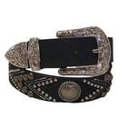 3D Belt Company Women's Black Studded Belt A3750