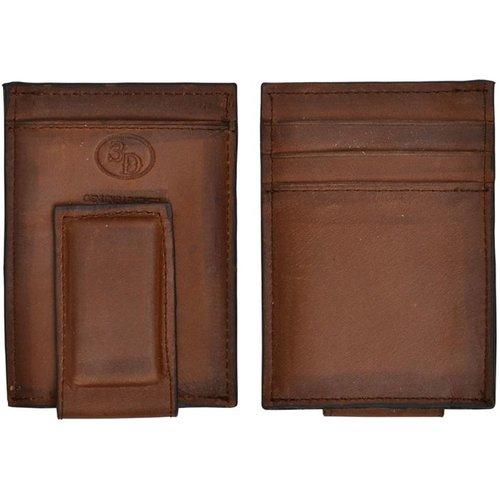 3D Belt Company Clip Wallet Brown w644