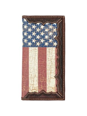3D Belt Company Rodeo Wallet Distressed Flag w841