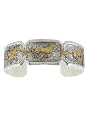 Montana Silversmith Running Horse Bracelet Retro Gold