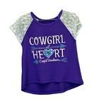 Cowboy Hardware Toddler Cowgirl at Heart Lace Raglan