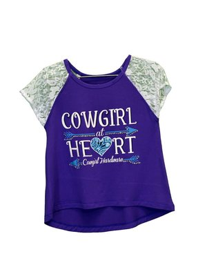 Cowboy Hardware Toddler Cowgirl at Heart Lace Raglan