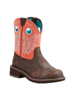 Ariat Fatbaby Heritage Cowgirl Choc/Coral