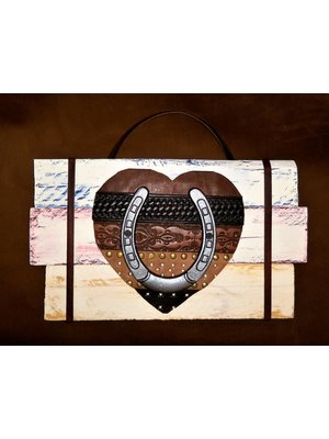 Diamond Royal Tack Heart Wall Horseshoe Decor