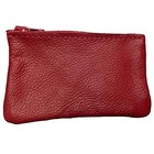 Leather Zippered Coin Pouch