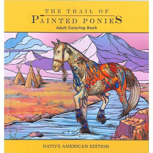 Painted Ponies Adult Coloring Book