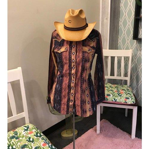 Wrangler Rose Aztec Western Shirt LW7205M