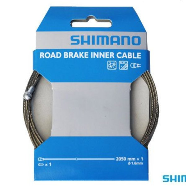 Shimano BRAKE CABLE - ROAD 1.6x2050mm STAINLESS