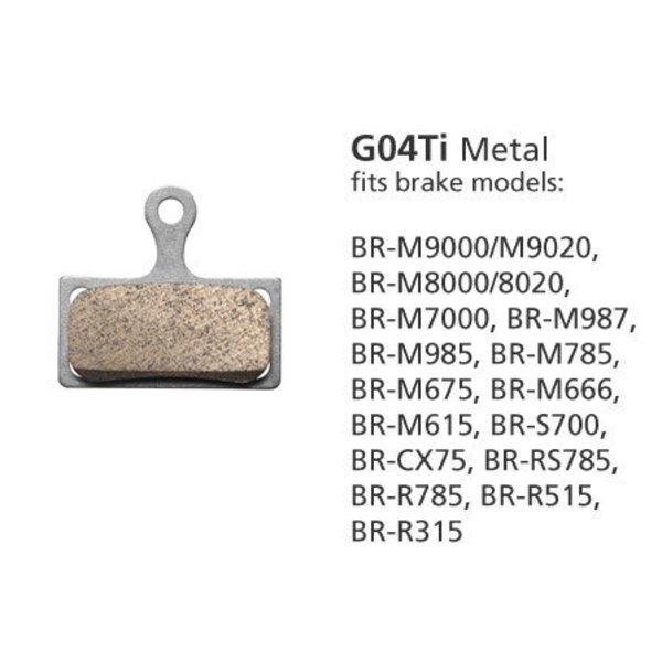Shimano BR-M9000 METAL PAD & SPRING G04Ti