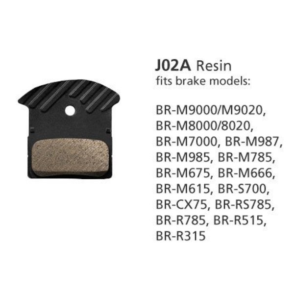 Shimano Shimano BR-M9000 RESIN PAD & SPRING J02A w/FIN