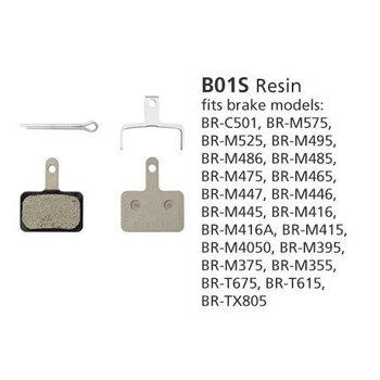 Shimano BR-M446 DISC BRAKE PADS B01S RESIN 1 PAIR