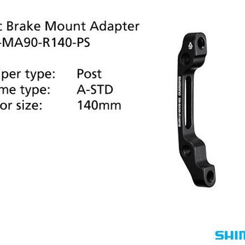 Shimano SM-MA90-R140-PS ADAPTER 140mm CALIPER: POST MOUNT: A-STD REAR