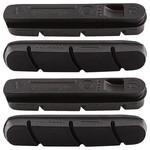 Campagnolo BLACK BRAKE PADS FOR ALUMINIUM RIMS (NOT P.E.O.) (4 PCS)