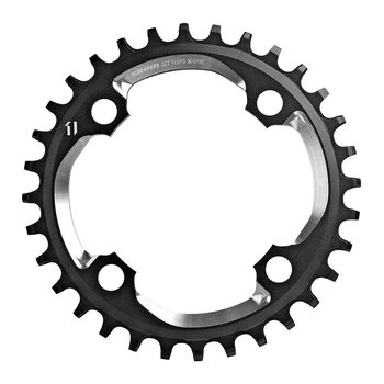 SRAM Chainring X-SYNC 32T 94 BCD Alum 5mm Black w/CNC Silver 11-Speed