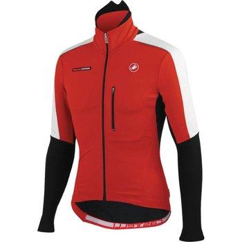Castelli Trasparente Due Wind FZ Long Sleeve Jersey Red XXL