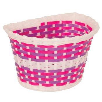 Pacific Kids Bitz Kiddies Basket White with Pink and Purple Weave