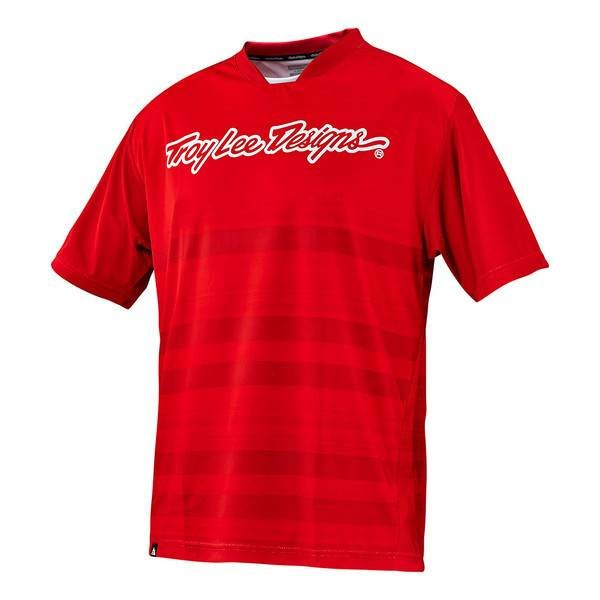 Troy Lee Designs Skyline Jersey Divided Fire Red M