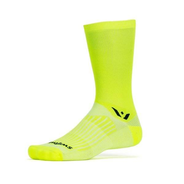 Swiftwick Aspire Seven Socks HiVis Yellow M