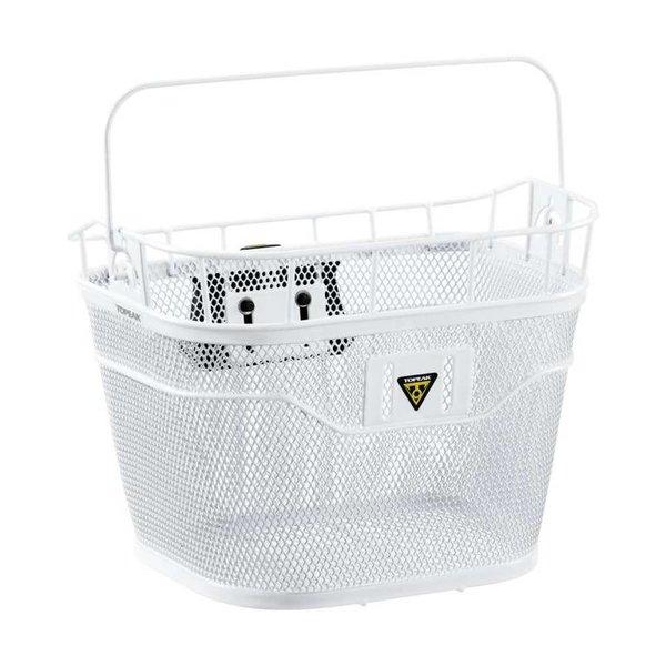 Topeak Metal Basket Front White