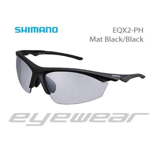 Shimano CE-EQX2-PH Sunglasses Mat Black/Black Photochromic Grey
