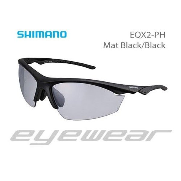 Shimano EYEWEAR - CE-EQX2-PH MAT BLACK/BLACK PHOTOCHROMIC GREY