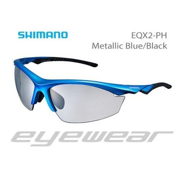 Shimano CE-EQX2-PH Sunglasses Metallic Blue/Black Photochromic Grey