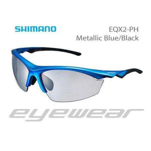 Shimano Shimano EYEWEAR - CE-EQX2-PH METALLIC BLUE/BLACK PHOTOCHROMIC GREY
